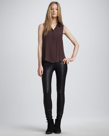 Quilted Leather Pants