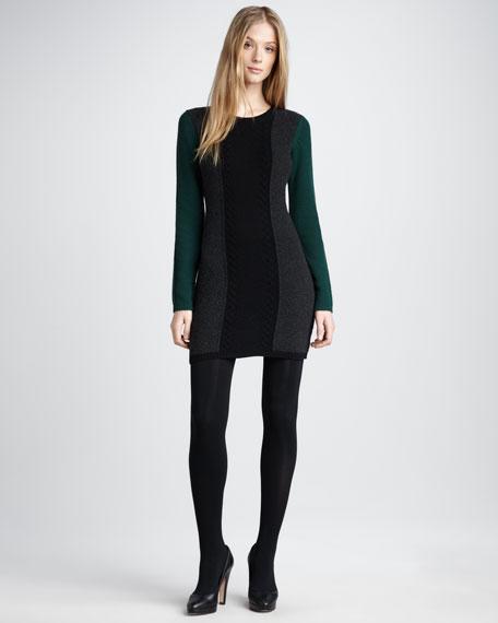 Colorblock Wool Dress