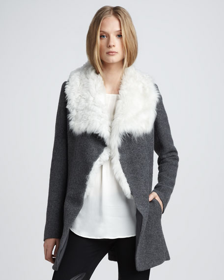 Draped Shearling Jacket