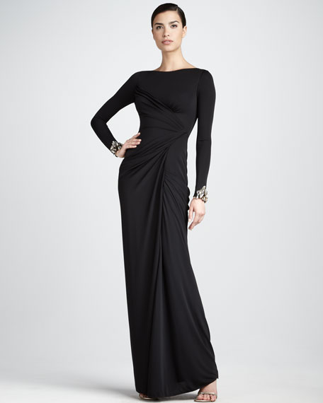Gathered Jersey Gown