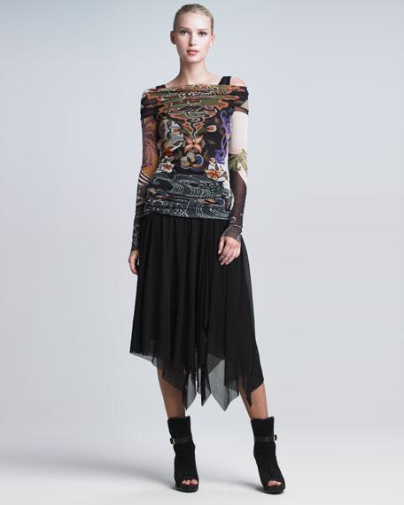 Handkerchief-Hem Skirt