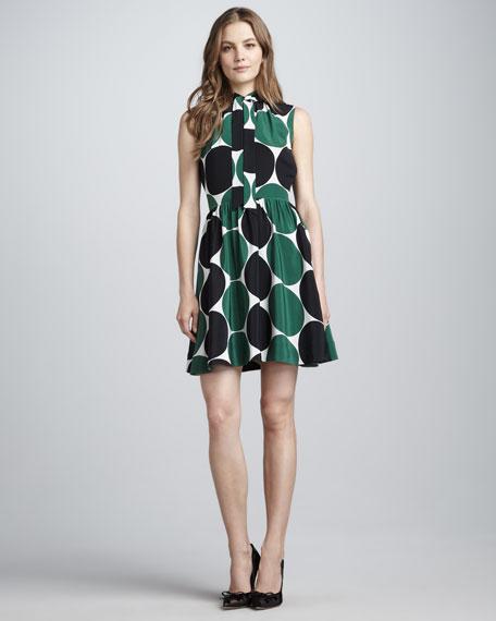 willa dot-print silk dress