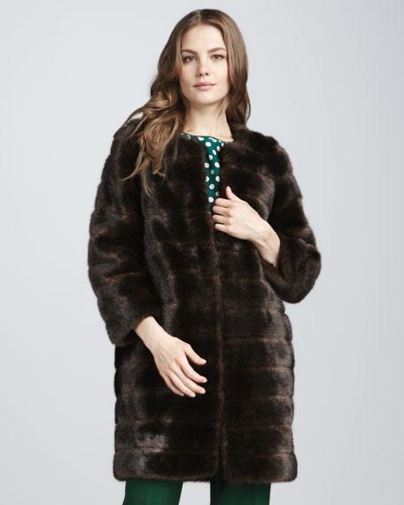 rossalyn faux-fur coat