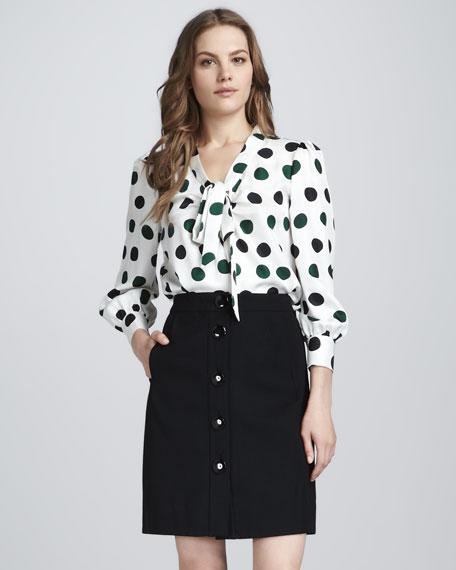 faylin wool a-line skirt