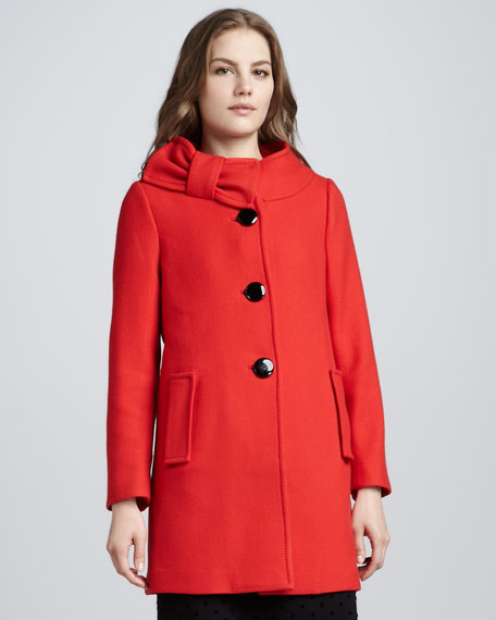 suzette bow-collar coat