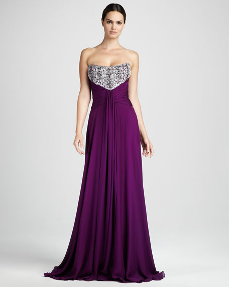 Jewel-Bodice Gown