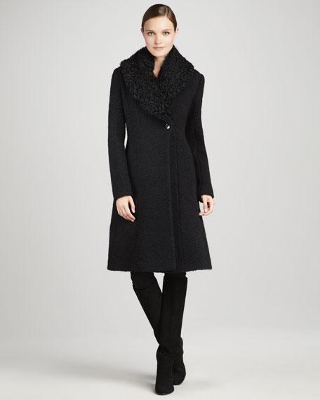 Jackie Fur-Collar Coat