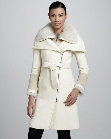 Isabel Fur-Collar Coat