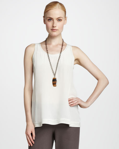 Silk Sleeveless Tank