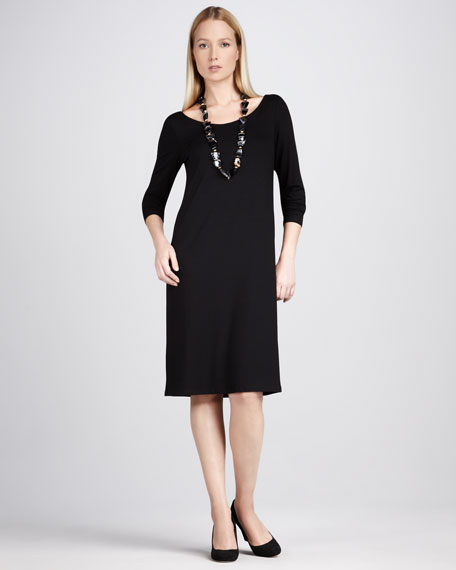 Jersey Scoop-Neck Dress