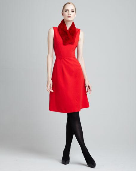 Hepburn Self-Belt Dress
