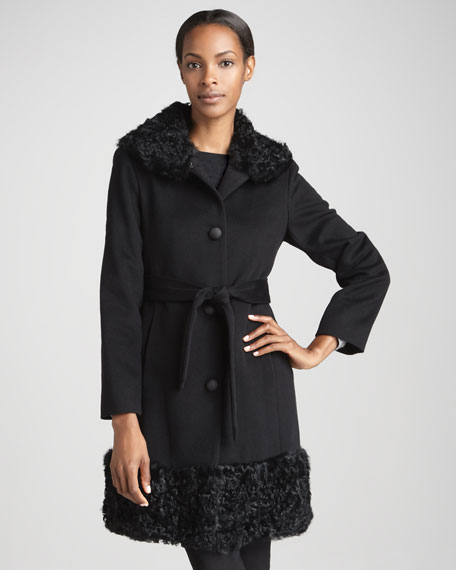 Curly Fur Wool Coat