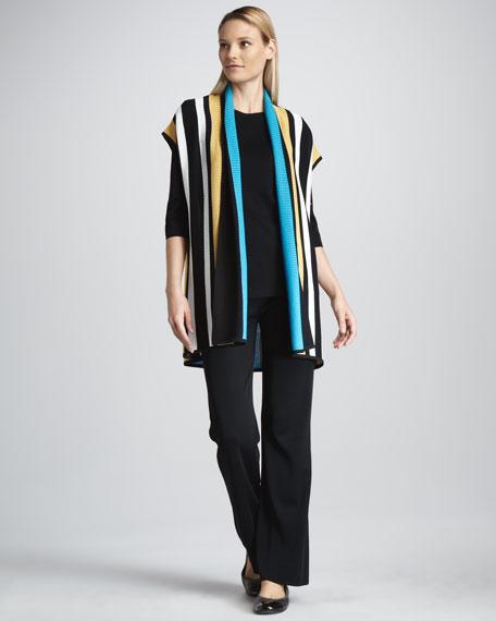 Striped Long Cardigan, Women's