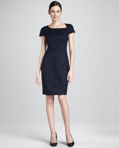 Cali Tweed/Crepe Dress, Women's