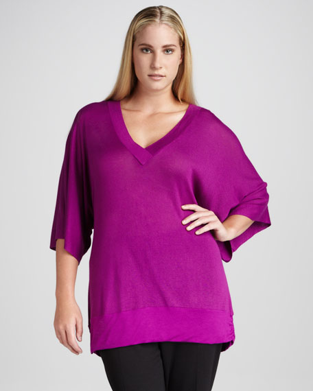 Erica Long V-Neck Sweater, Women's