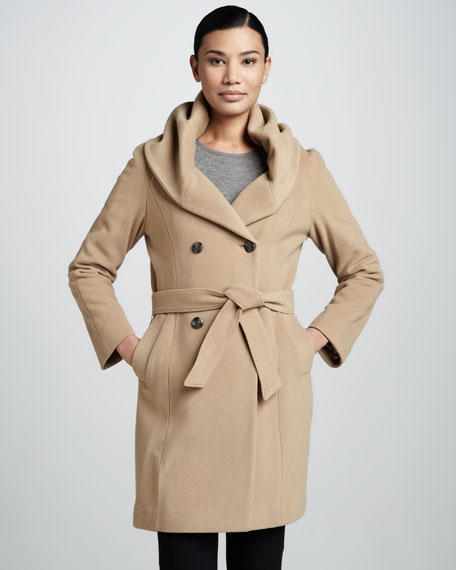 Double-Breasted Shawl-Collar Coat