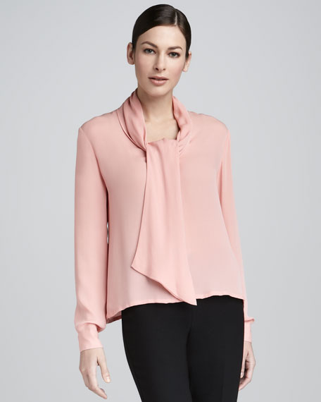 Loop-Neck Blouse