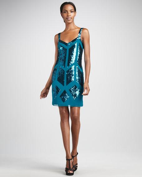 Geometric Cocktail Dress