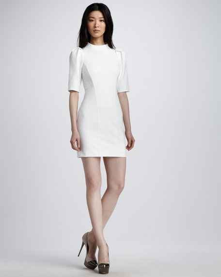 Luke Puff-Sleeve Dress