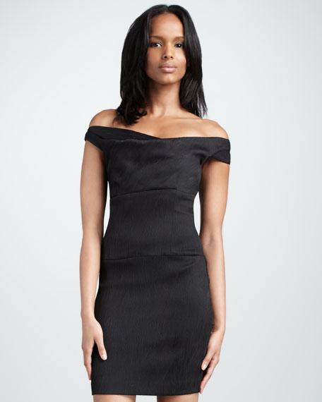 Woods Off-The-Shoulder Dress