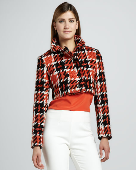 Cropped Double-Breasted Jacket