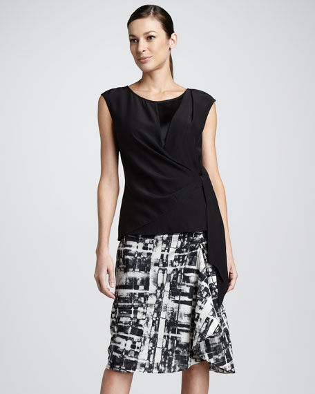 Gwenna Faux-Wrap Skirt