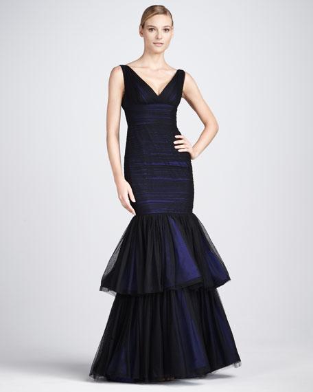Tiered Point d'Esprit Gown