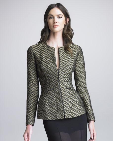 Jelsor Houndstooth Tweed Jacket