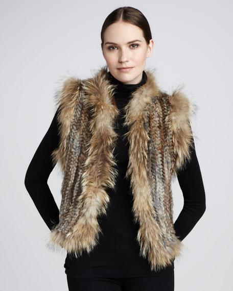 Knit Fur Vest