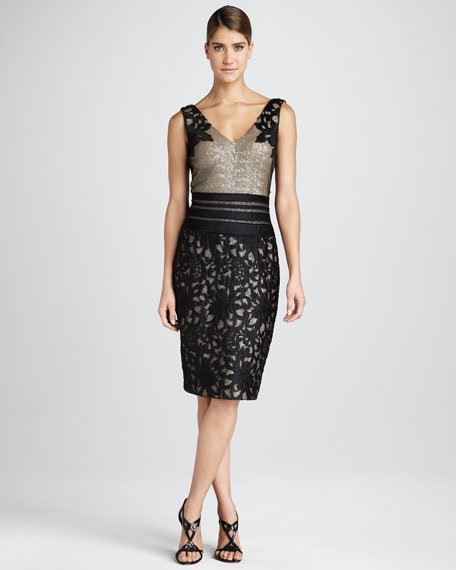 Sequin/Lace Cocktail Dress