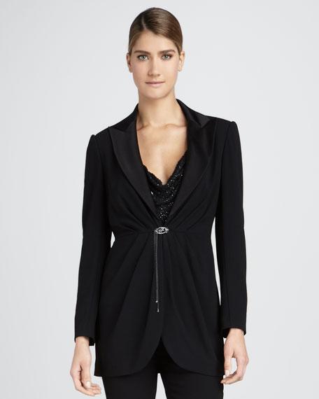 Brooch-Front Jacket