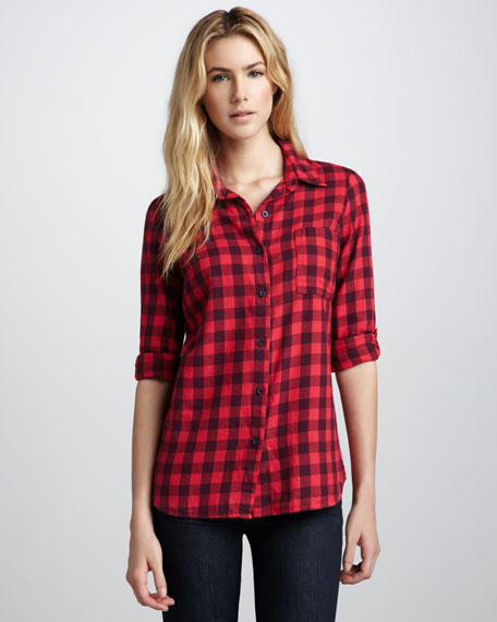 Gingham-Check Button-Down