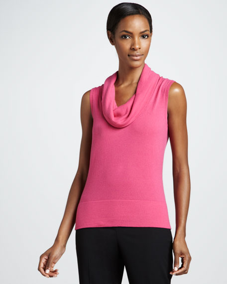 Sleeveless Cowl-Neck Top
