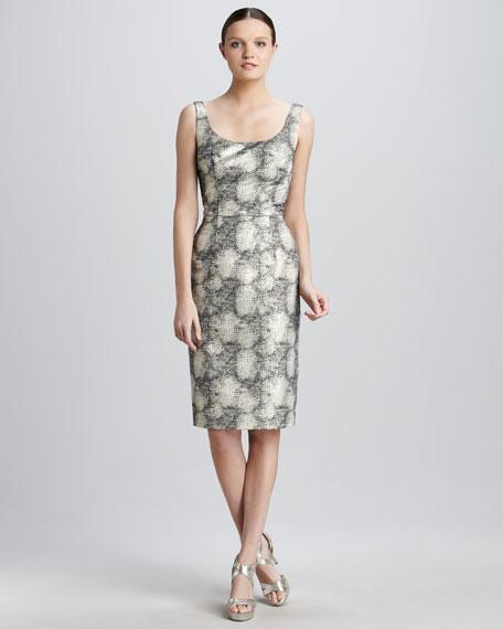 Animal-Print Cocktail Dress