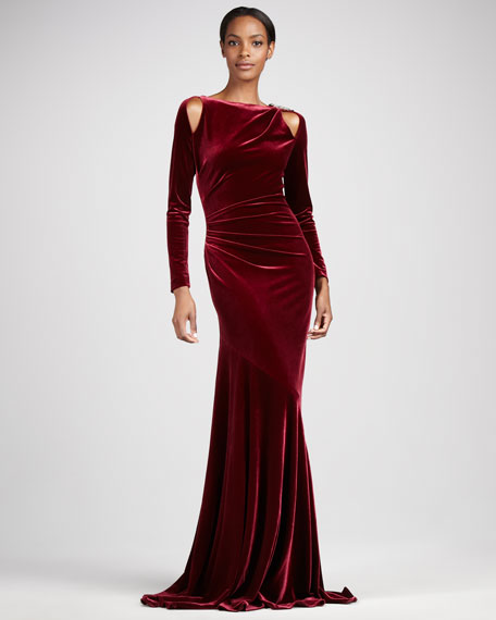Stretch-Velvet Gown