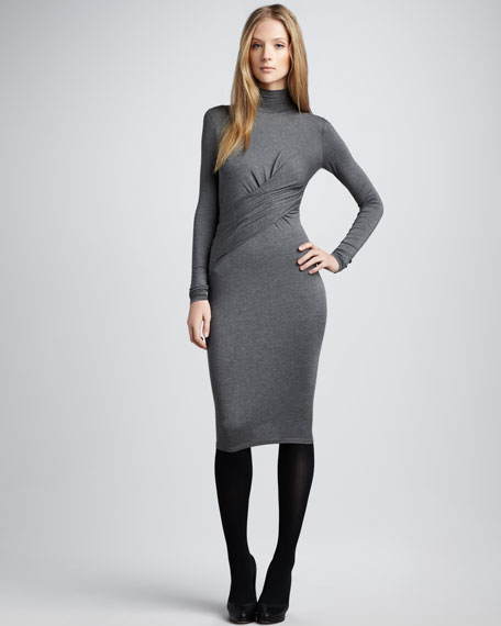 Slim Slub Dress
