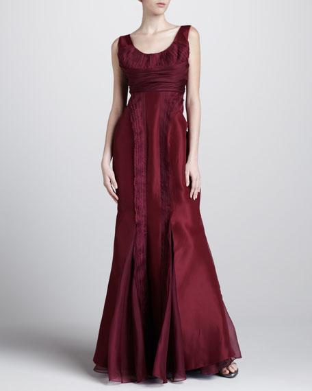 Tech-Organza-Inset Gown