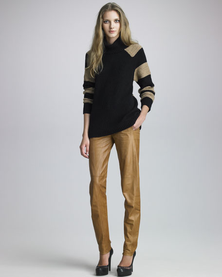 Leather Pants, Camel
