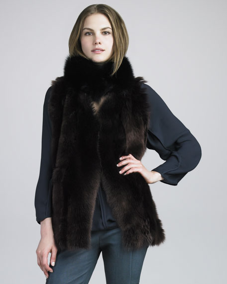 Reversible Leather/Fur Vest