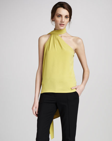 Scarf-Neck Top