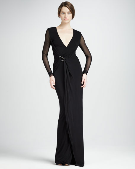 Jersey Wrapped Gown