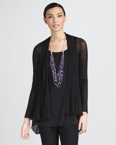 Sheer Ribbed Cardigan