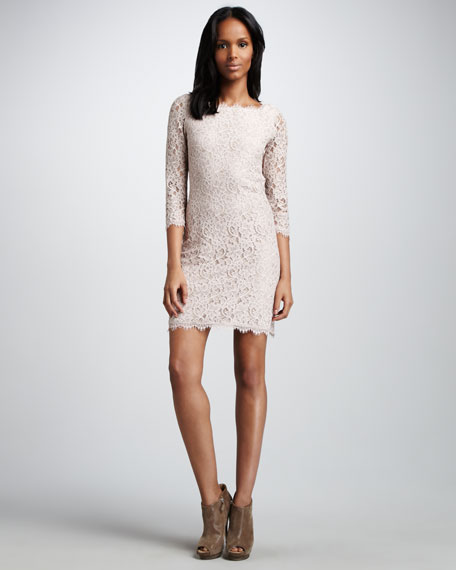 Zarita Lace Dress, Nude