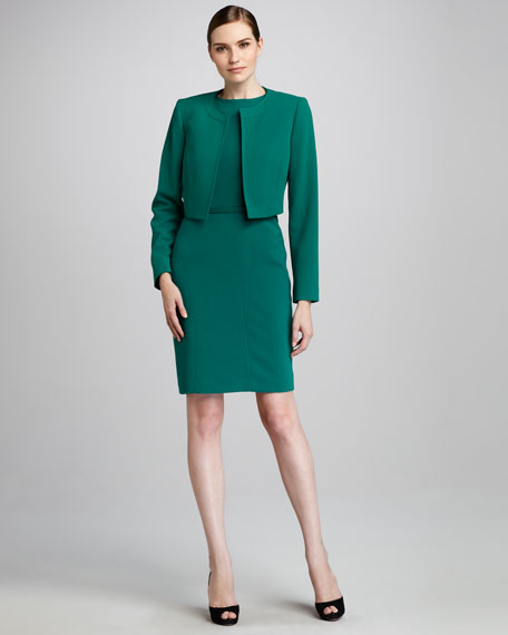 Cropped Jacket & Sheath Dress