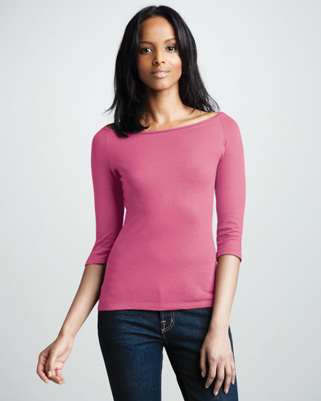 Knit Boat-Neck Top