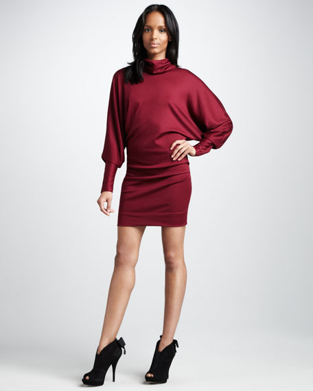 Maryn High-Neck Jersey Dress