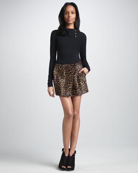 Melissa Calf-Hair Skirt