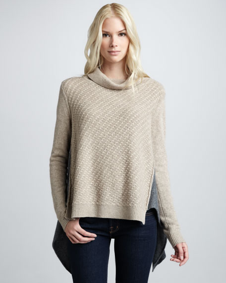 Two-Tone Turtleneck