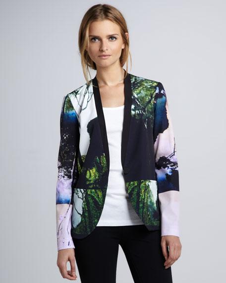 Forest-Print Jacket