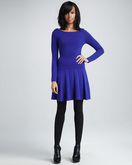 Sandra Drop-Waist Dress, Helio
